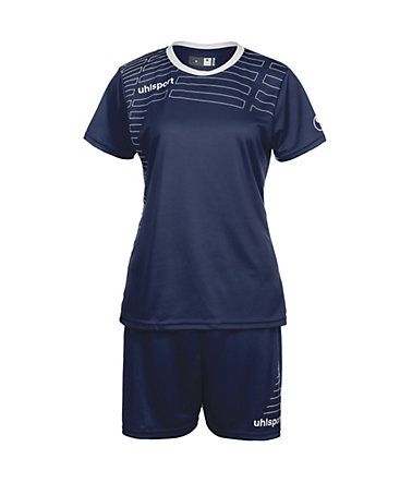 UHLSPORT Match Team Kit Shortsleeve Damen - marine/weiß - L-400