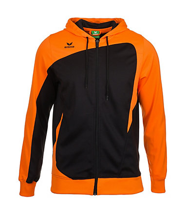 ERIMA CLUB 1900 Trainingsjacke mit Kapuze Kinder - schwarz/neonorange - 0(128)0