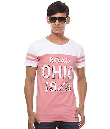 CATCH T-Shirt Rundhals slim fit - pink - L0