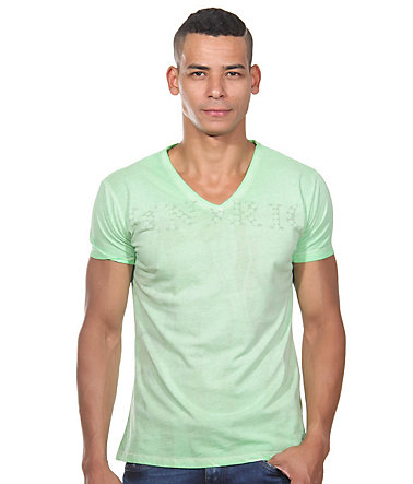 JENERIC T-Shirt V-Ausschnitt regular fit - lemon - L0