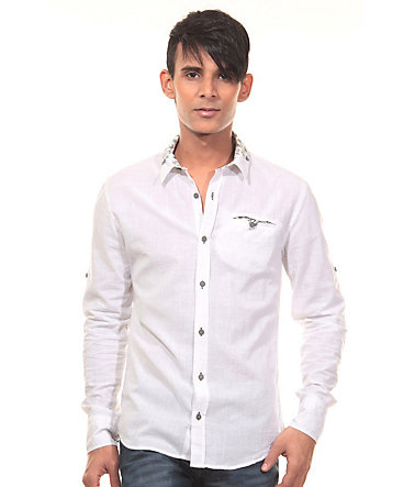 CATCH Langarmhemd slim fit - weiss - M0