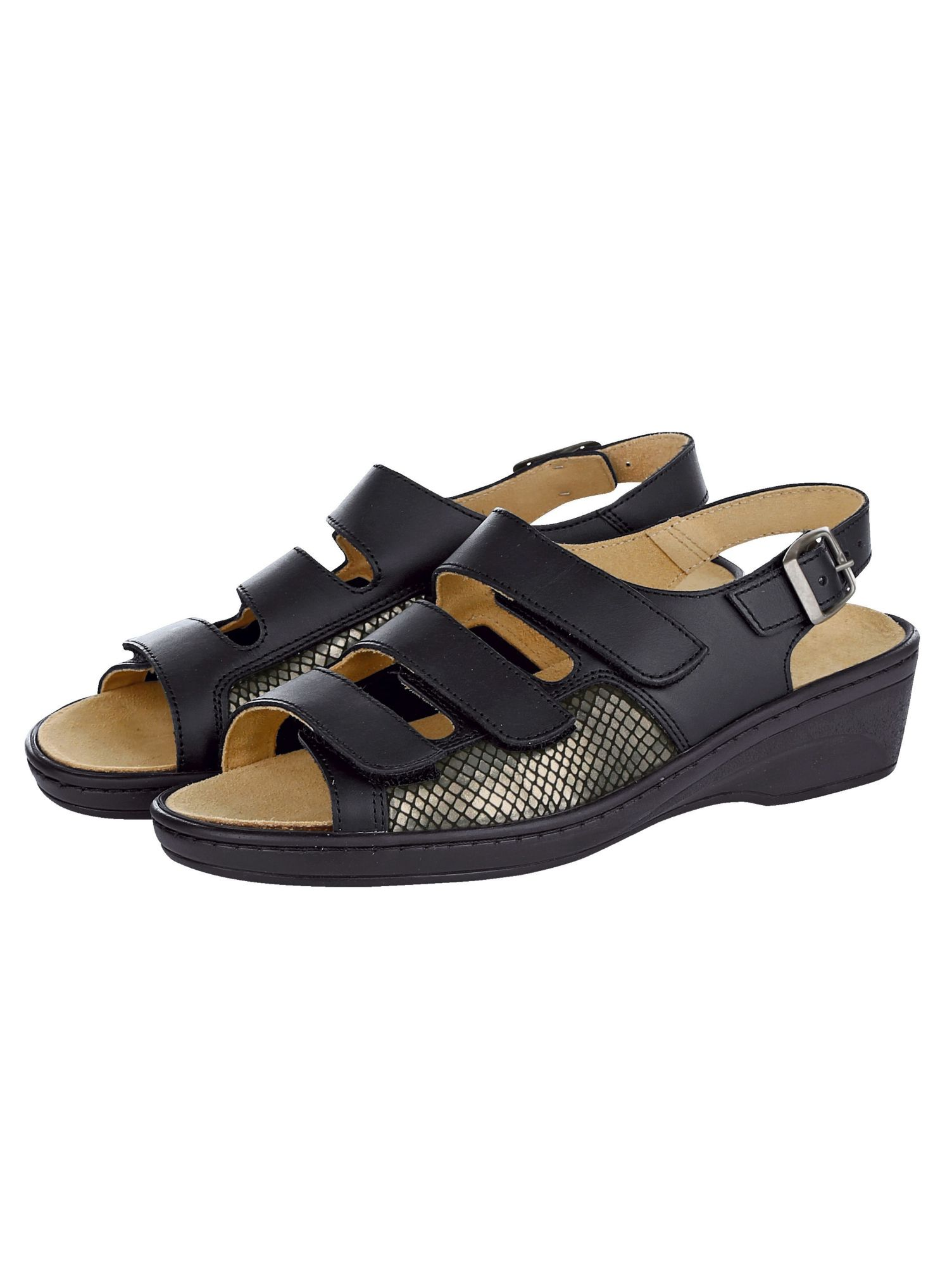 Naturläufer Sandalette, schwarz, Normal, schwarz