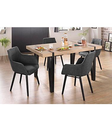 essgruppe sanchez und bradford 5 teilig mit tisch breite 150 cm essgruppen. Black Bedroom Furniture Sets. Home Design Ideas