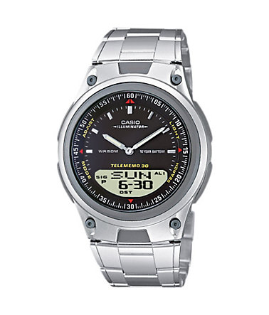 Casio Collection Chronograph »AW-80D-1AVES« - silberfarben