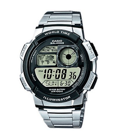 Casio Collection Chronograph »AE-1000WD-1AVEF« - silberfarben