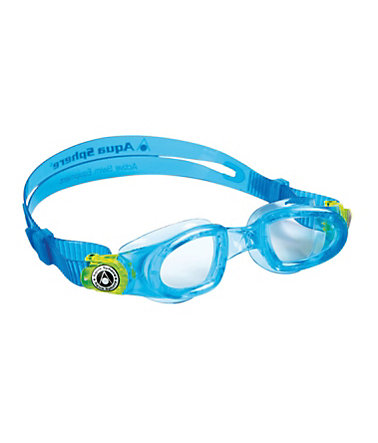 Aqua Sphere, Schwimmbrille, helles Glas, »Moby Kid« - aqua/lime
