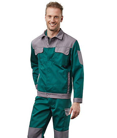 Pionier ® workwear Bundjacke Color Wave - grün/grau - L0