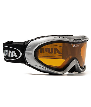 Skibrille, silber, für Brillenträger, Alpina, »Opticvision«, Made in Germany -
