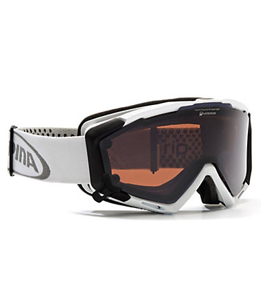 Skibrille, weiss, Alpina, »Panoma Magnetic«, Made in Germany -