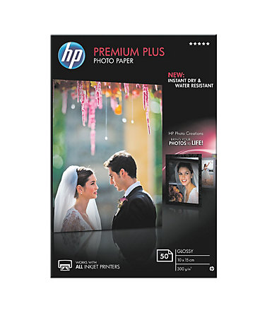 HP Fotopapier »HP premium plus photo paper CR695A« 10x... -