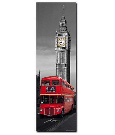 Wandbild, Premium Picture, »London Red Bus«, Größe 30 x 90 cm -
