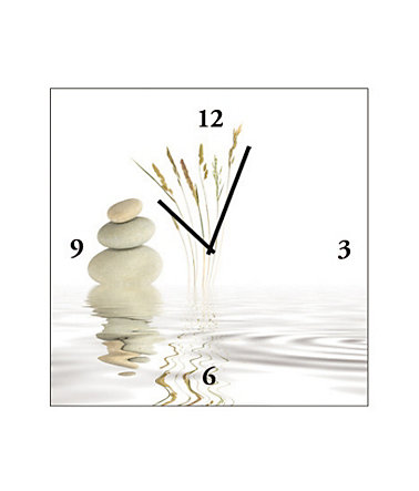 Home affaire, Wanduhr auf Leinwand »Zen Peace«, 30/30 cm -