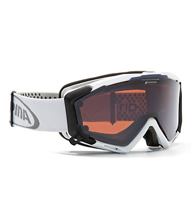 Skibrille weiß, Alpina, »PANOMA S Magnetic«, Made in Germany -