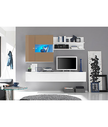 lc wohnwand 3 tlg wohnw nde tv m bel. Black Bedroom Furniture Sets. Home Design Ideas