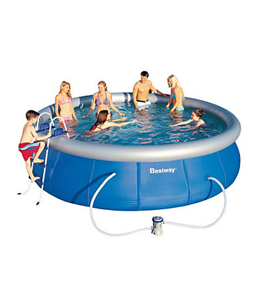 Pool, Bestway, »Fast Set Familienpool 457« - blau - 457x91cm457