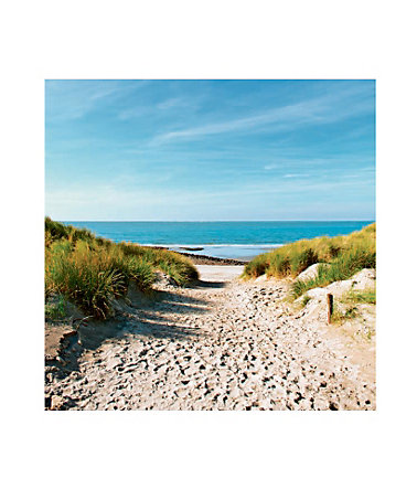 Home affaire, Glasbild, »Beach with sand dunes and a path to the sea«, 30/30 cm - 30/30cm30