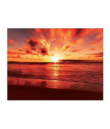 Home affaire, Glasbild, »Beautiful tropical sunset on the beach«, 80/60 cm -