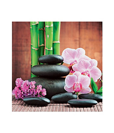 Home affaire, Glasbild, »Spa concept with zen stones and orchid«, 30/30 cm - 30/30cm30