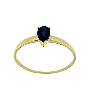 "Vivance Jewels Ring ""Tropfen"" mit Safir - 16=50mmUmfang16"