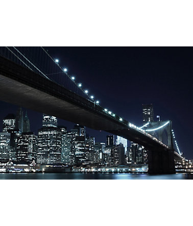 Home affaire Fototapete »New York by night«, 272/198 cm -