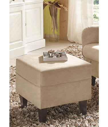 Home affaire Hocker »Nicola«, Luxus-Microfaser - 300(=creme)