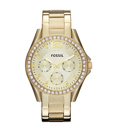 Fossil Multifunktionsuhr »RILEY, ES3203« - goldfarben