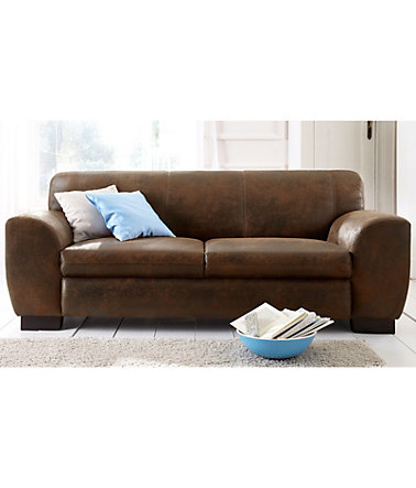Home affaire Sofa »Nika«, 2 oder 3- Sitzer in Microfaser MELROSE - 905(=mocca) - MicrofaserMELROSE - 2-Sitzer