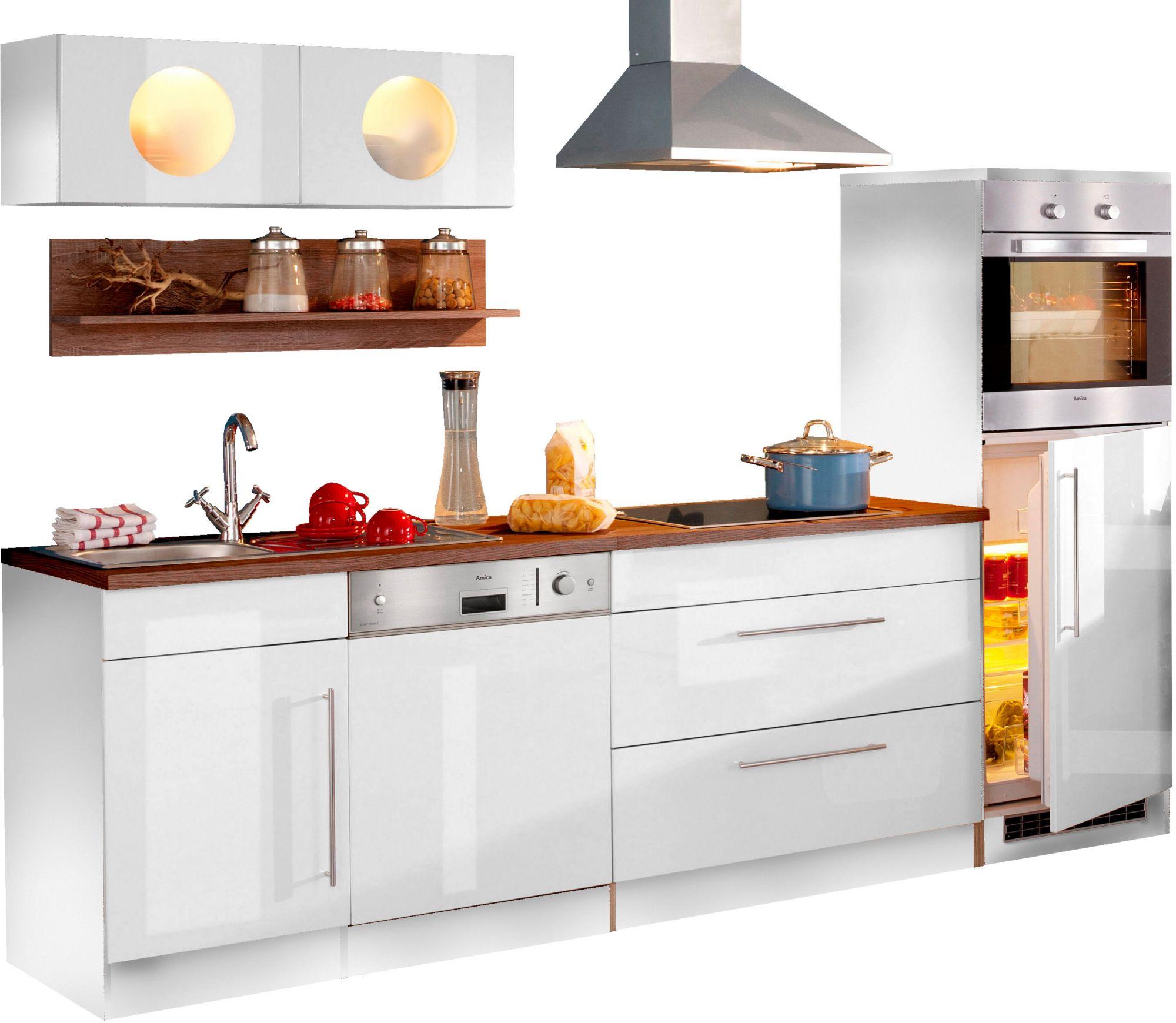 Held möbel küchenzeile keitum breite 270 cm mit induktionskochfeld weiß
