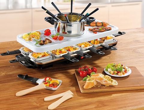 GOURMETmaxx Raclette ir fondiu rinkinys Raclette- ...