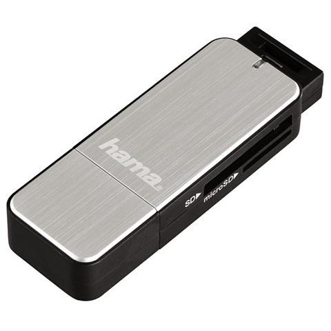 Hama USB-3.0-Kartenleser SD/microSD Silber