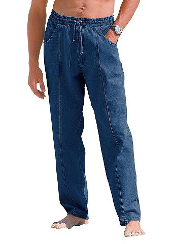 Laisvos kelnės su platus elastanu