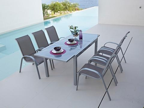 MERXX Sodo baldų komplektas »Amalfi« 7-tlg. ...