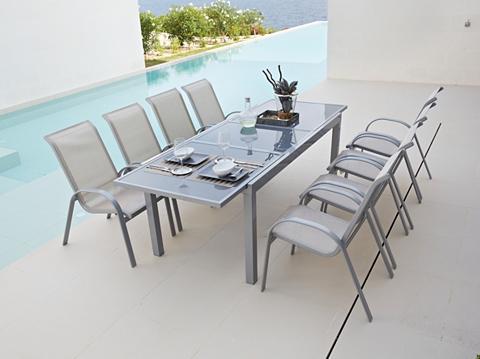 MERXX Sodo stalas »Amalfi« Aliumininis išskl...