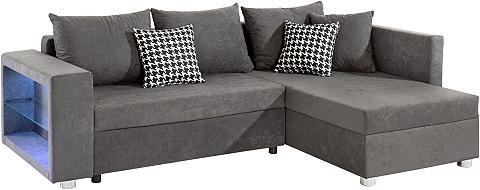Kampinė sofa patogi su LED-RGB Apšviet...