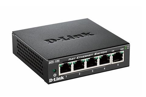 D-Link Switch »DES-105 5-Port Layer2 Fast Eth...