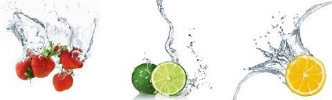 Sienų lipdukai »Splashing Fruits »