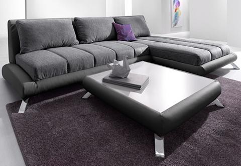 Kampinė sofa su gulimasis krėslas