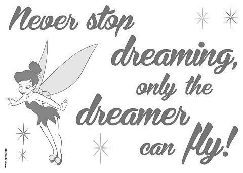 KOMAR Sienų lipdukai »Never stop dreaming«