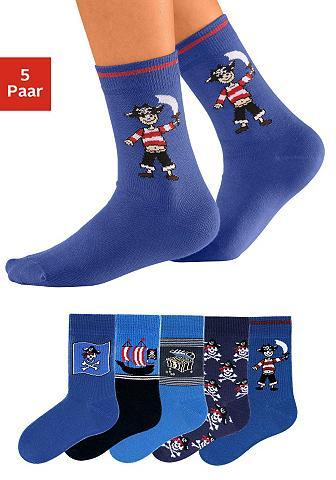 Go in Socken (5-Paar) su Piratenmotiven