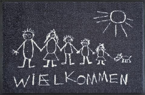 WASH+DRY BY KLEEN-TEX Durų kilimėlis »Wielkommen« wash+dry b...