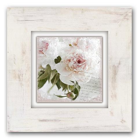Holzbild »Rosa Blume« 40/40 cm