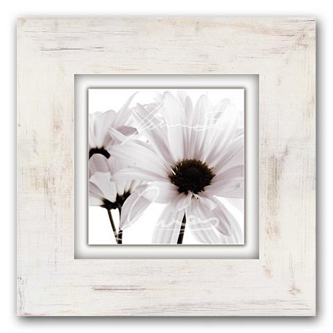 Holzbild »Weiße Blüten« 40/40 cm