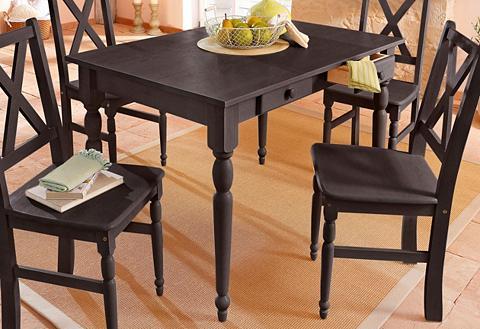 HOME AFFAIRE Valgomojo stalas in 3 dydžiai su Stalč...