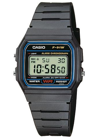 Casio Collection Chronograph »F-91W-1YEG«