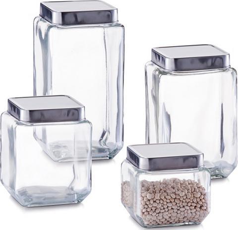 Zeller Present Vorratsglas Glas (4-tlg)
