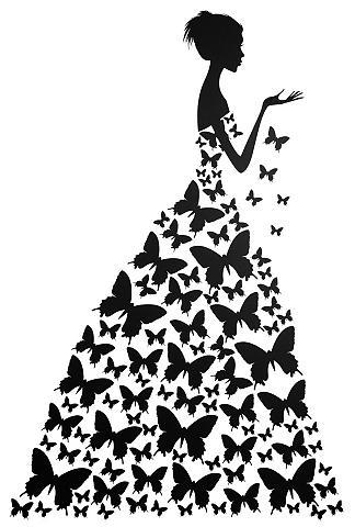 Sienos lipdukai »Schmetterlingsfrau«