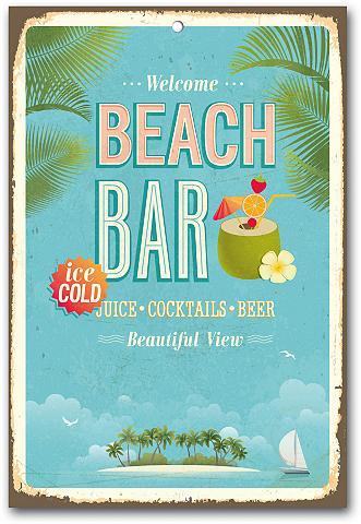 HOME AFFAIRE Metallschild »Beach Bar«