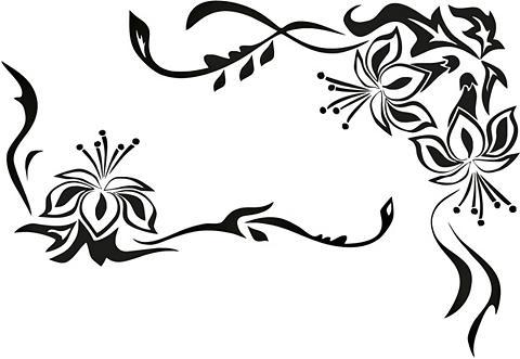 Sienos lipdukai »Blütenornament« in 2 ...
