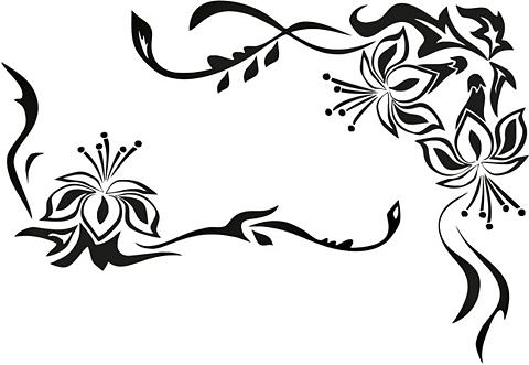 HOME AFFAIRE Sienos lipdukai »Blütenornament« in 3 ...