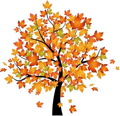 HOME AFFAIRE Sienos lipdukai »Baum im Herbst« 120/1...